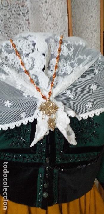 Antigüedades: pañuelo bobiné bordado indumentaria folclore - Foto 6 - 166901388