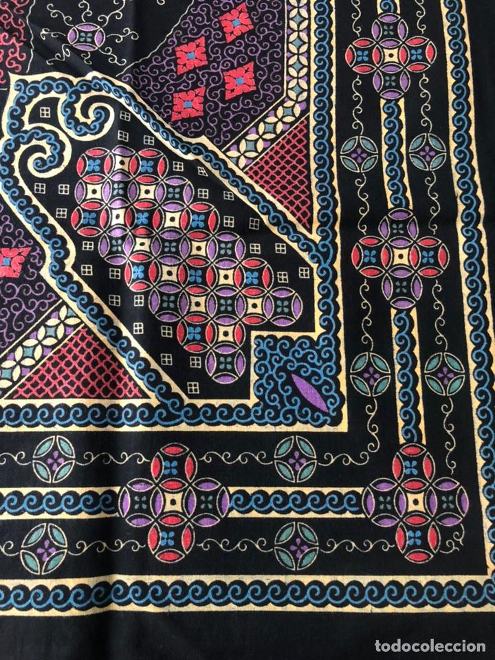 Antigüedades: Antiguo pañuelo regional estampado siglo XIX - Foto 3 - 166901805