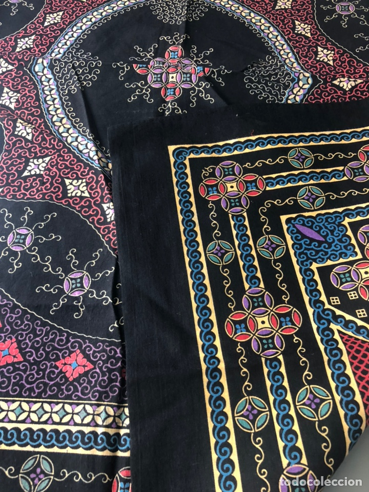 Antigüedades: Antiguo pañuelo regional estampado siglo XIX - Foto 4 - 166901805