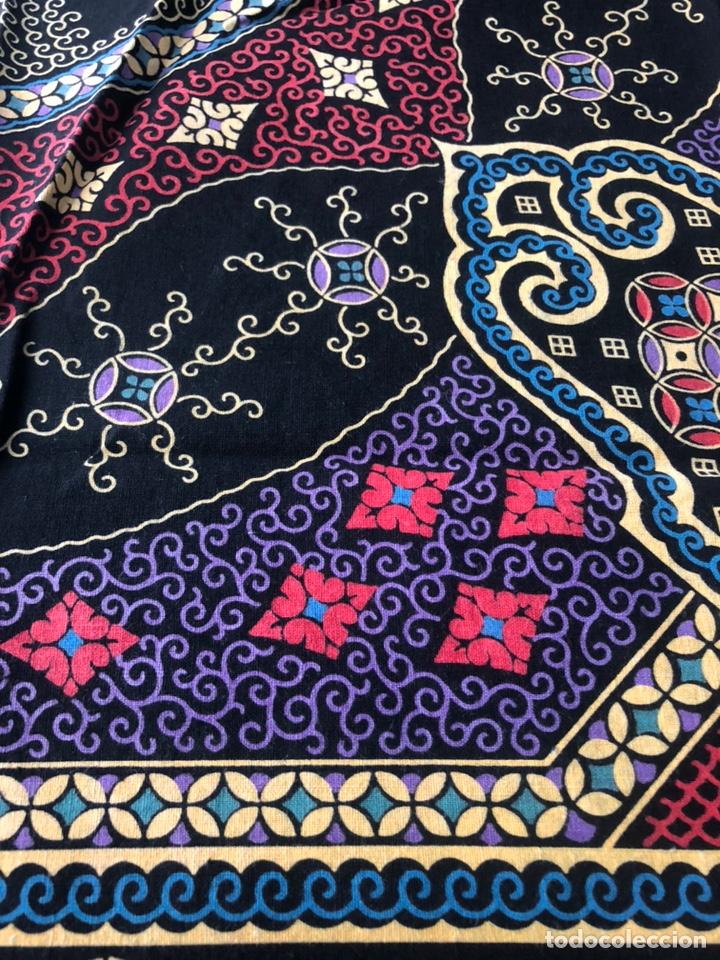 Antigüedades: Antiguo pañuelo regional estampado siglo XIX - Foto 5 - 166901805