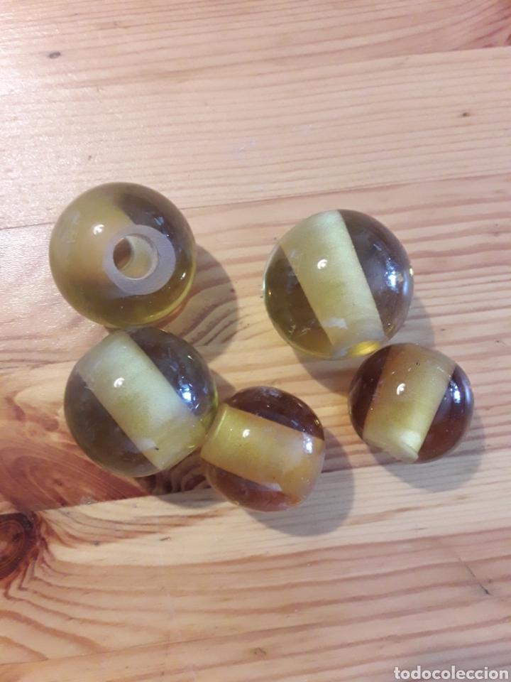 Antigüedades: Bolas de vidrio cristal para lampara u otras antigüedades recambio - Foto 2 - 166905969
