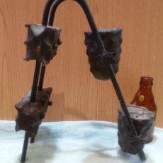 Antigüedades: APLIQUE DE CANDELABRO VELERO DE MADERA PARA DOS VELAS. Lote 166912872