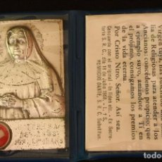 Antigüedades: PLACA CON RELIQUIA-BEATA TERESA DE JESUS. Lote 166937108