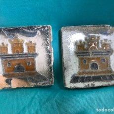 Antigüedades: 2 OLAMBRILLAS DE CERÁMICA ANTIGUAS DE TRIANA SEVILLA ? ARISTA. Lote 166941916