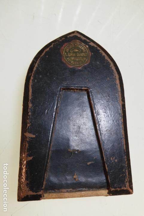 Antigüedades: precioso tríptico con medalla de plata de Nuestra Señora del Pilar con basílica. Joyería Moderna. ZG - Foto 4 - 166942440