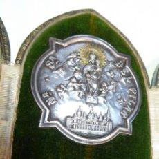 Antigüedades: PRECIOSO TRÍPTICO CON MEDALLA DE PLATA DE NUESTRA SEÑORA DEL PILAR CON BASÍLICA. JOYERÍA MODERNA. ZG. Lote 166942440