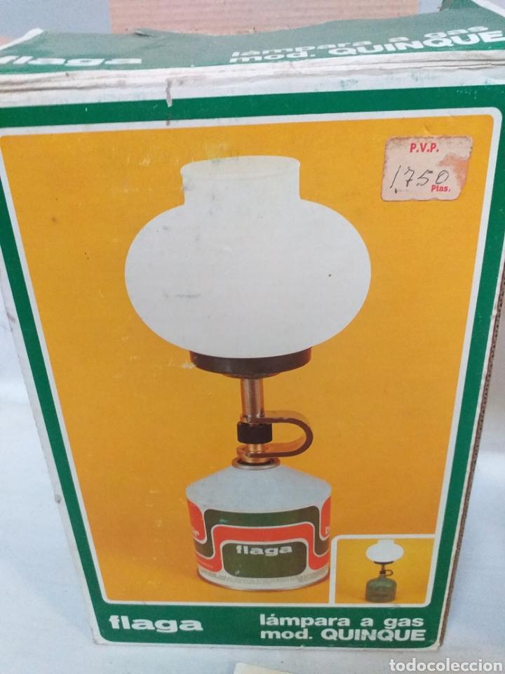 Antigüedades: Antigua lampara a gas modelo quinque de la marca Flaga, años 70 - Foto 3 - 166960873