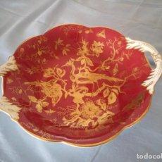 Antigüedades: PRECIOSO PLATO CON ASAS DE PORCLANA COALPOT FINE BONE CHINA MADE IN ENGLAND,MOTIVO FAISANES. Lote 166963540
