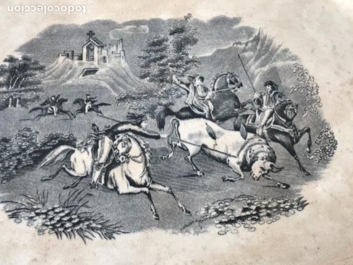 Antigüedades: FUENTE DE CARTAGENA. FABRICA DE LA AMISTAD. ESCENA CAZA DEL TORO. FINALES DEL S. XIX. - Foto 4 - 166986488