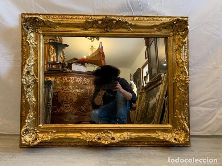 Antigüedades: ESPEJO EN MADERA Y PAN DE ORO - Foto 3 - 166992128