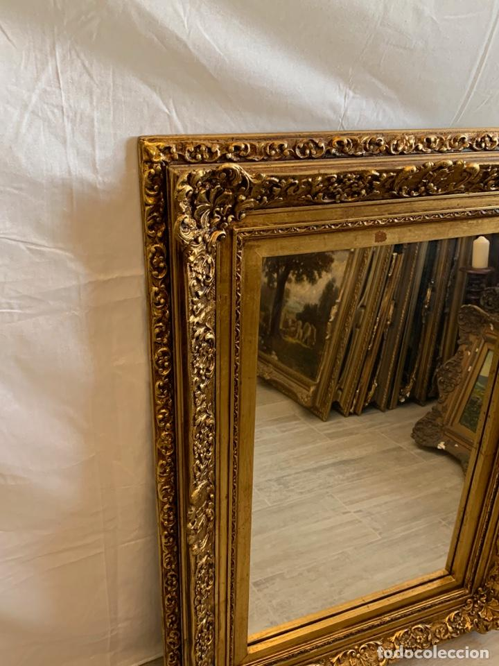 Antigüedades: ESPEJO EN PAN DE ORO - Foto 4 - 166992460