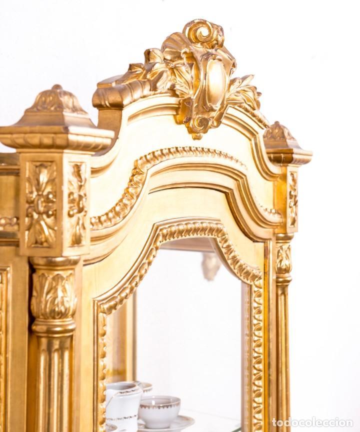 Antigüedades: Vitrina Antigua Luis XVI - Foto 4 - 166995056