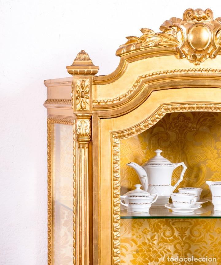 Antigüedades: Vitrina Antigua Luis XVI - Foto 6 - 166995056