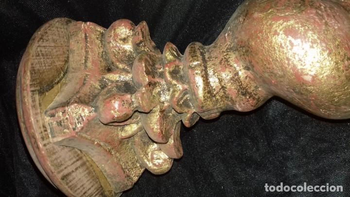 Antigüedades: Columna salomónica 42cm - Foto 2 - 167023128