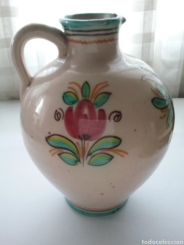 Antigüedades: Cántaro de cerámica Fraile Arzobispo pintado a mano. - Foto 2 - 167023456