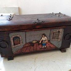 Antigüedades: ANTIGUO COFRE OFICIO PANADERO. Lote 167051148