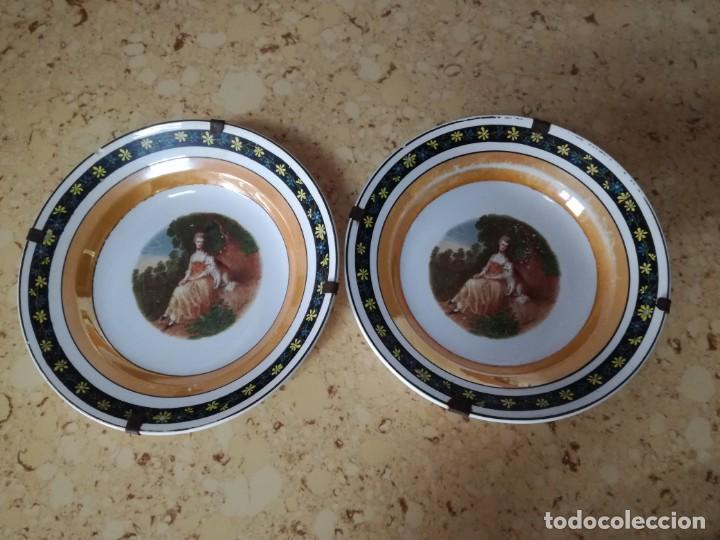 Antigüedades: Pareja de platos S, Claudio para colgar. - Foto 2 - 167054828