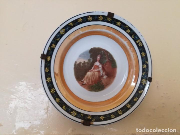 Antigüedades: Pareja de platos S, Claudio para colgar. - Foto 3 - 167054828