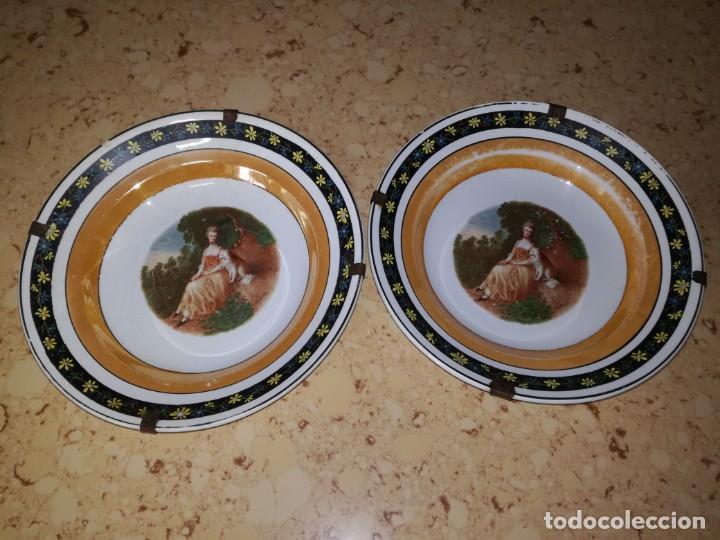 Antigüedades: Pareja de platos S, Claudio para colgar. - Foto 5 - 167054828