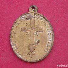 Antigüedades: MEDALLA CRUZ DE SANTA TERESA DE JESÚS. CENTENARIO SIGLO XIX.. Lote 167066376