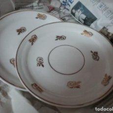 Antigüedades: LOTE 6 PLATITOS CAFE DECORADOS EN DORADO. Lote 167094980