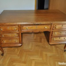 Antigüedades: MESA DE DESPACHO ANTIGUA DE ROBLE MACIZO. Lote 167097004