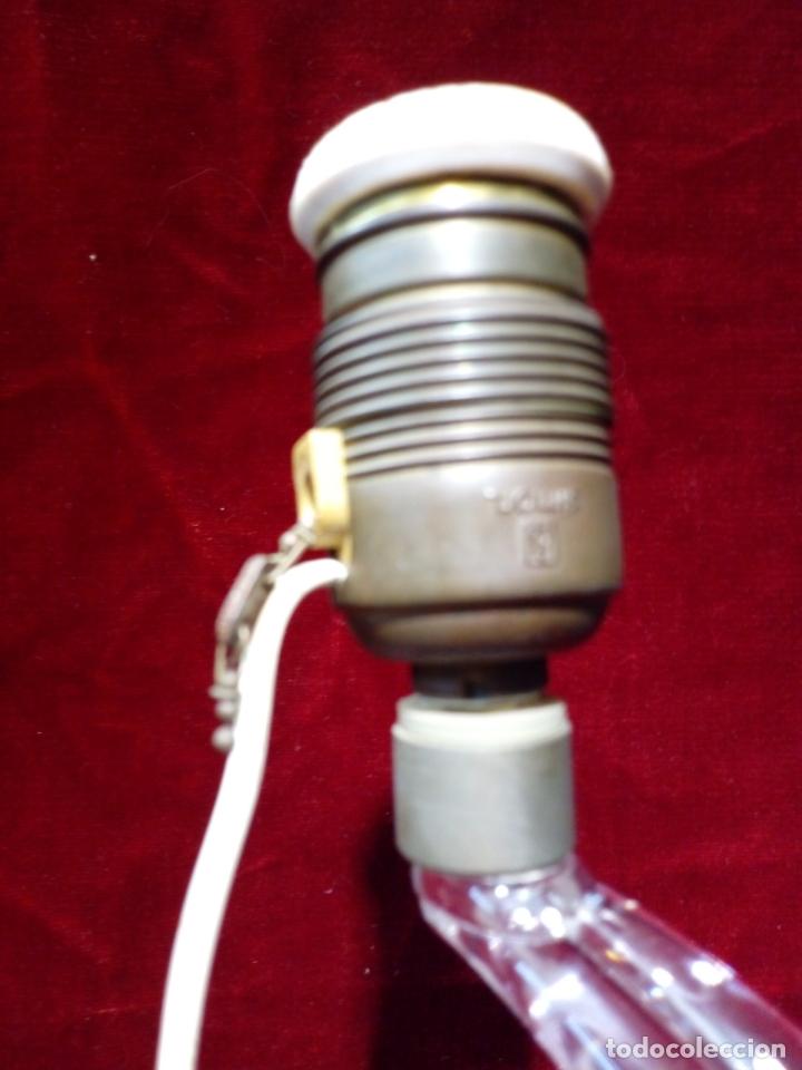 Antigüedades: ANTIGUA LAMPARA DE SOBREMESA - CRISTAL DE MURANO - Foto 10 - 167116624