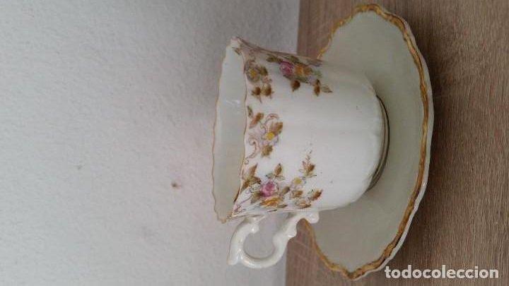 PREIOSA TAZ PORCELANA MUY FINA BAVARIA THERESIE SELTMAMANOS 50.60 PINTADA A MANO (Antigüedades - Porcelana y Cerámica - Alemana - Meissen)