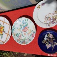 Antigüedades: 4 PLATOS DE PORCELANA, JAPAN, FRANCESA, ESTILO LIMONGES, ITALIANA. Lote 167133916