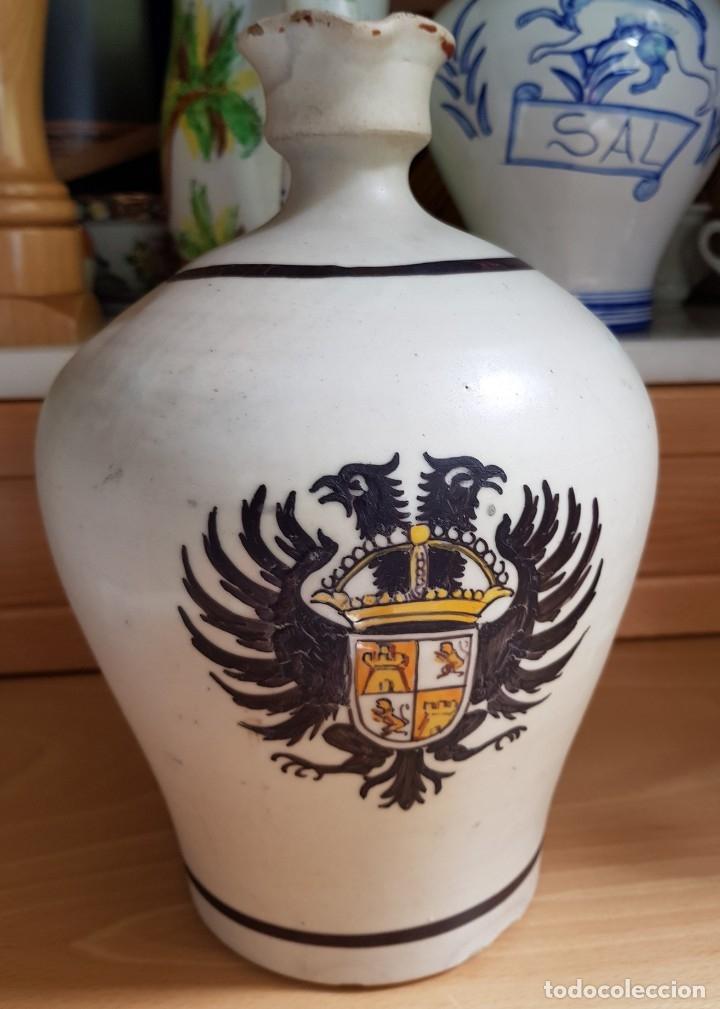JARRA - ACEITERA PORTLAND IBERIA, SELLADA TALAVERA. ESCRITO SOY DE PORTLAND IBERIA. ESPAÑA, SIGLO XX (Antigüedades - Porcelanas y Cerámicas - Talavera)