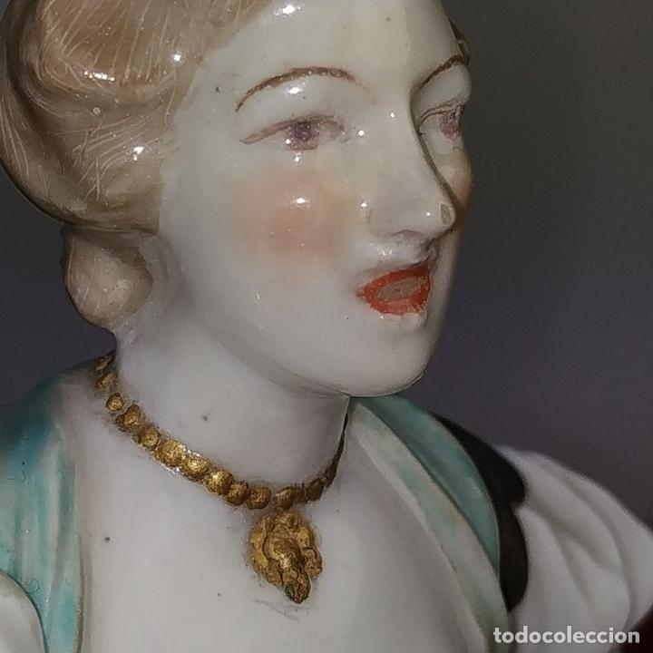Antigüedades: MUJER GRITANDO. PORCELANA ESMALTADA.PROBABLE PRODUCCIÓN DE MEISSEN. ALEMANIA (?) XIX-XX - Foto 4 - 167141496