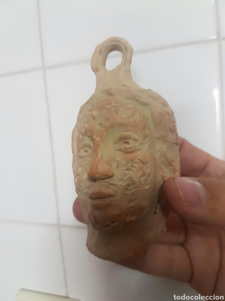 Antigüedades: CURIOSA CABEZA CON DOS CARAS REALIZADA EN BARRO - Foto 2 - 167154370