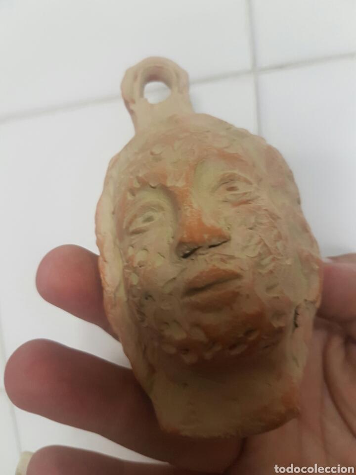 Antigüedades: CURIOSA CABEZA CON DOS CARAS REALIZADA EN BARRO - Foto 5 - 167154370