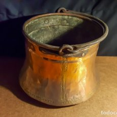 Antigüedades: CALDERA DE COBRE ANTIGUA. Lote 167155408