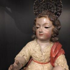 Antigüedades: FANTÁSTICO NIÑO DE LA ESCUELA GRANADINA. Lote 131134555