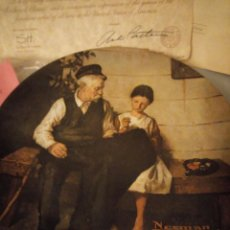 Antigüedades: PLATO DE PORCELANA NORMAN ROCKWELL THE LIGHTHOUSE KEEPERS DAUGHTER,CON CERTOFICADO,1979. Lote 167196036