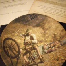 Antigüedades: PLATO DE PORCELANA RUMPELSTILZCHEN KONIGSZELT,KNOWELS 1981,CON CERTIFICADO DE AUTENTICIDAD.. Lote 167196320