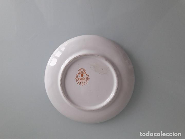 Antigüedades: PLATITO DE PORCELANA - PINTADO Y ESMALTADO - S. ROQUE - AVEIRO - PORTUGAL - Foto 2 - 167204224