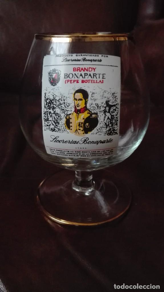 COPA DE COÑAC CON PUBLICIDAD BRANDY BONAPARTE (Antigüedades - Hogar y Decoración - Copas Antiguas)