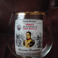 Antigüedades: COPA DE COÑAC CON PUBLICIDAD BRANDY BONAPARTE. Lote 167239344