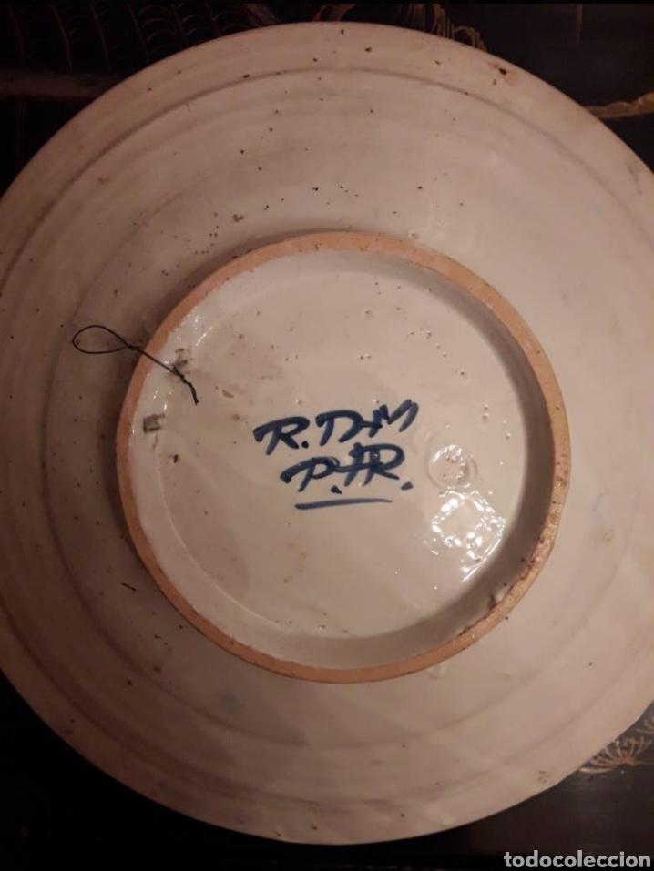 Antigüedades: Ceramica Talavera plato - Foto 2 - 167246970