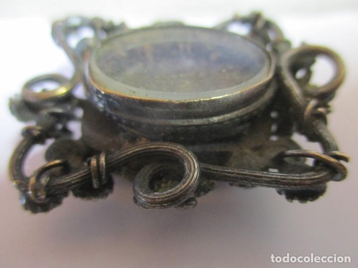 Antigüedades: Preciosa Joya - Colgante, Relicario - Plata de Ley - Amatista - S. XVIII - Foto 10 - 167430180