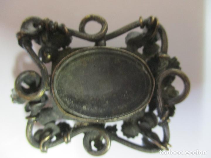 Antigüedades: Preciosa Joya - Colgante, Relicario - Plata de Ley - Amatista - S. XVIII - Foto 11 - 167430180