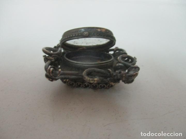 Antigüedades: Preciosa Joya - Colgante, Relicario - Plata de Ley - Amatista - S. XVIII - Foto 13 - 167430180