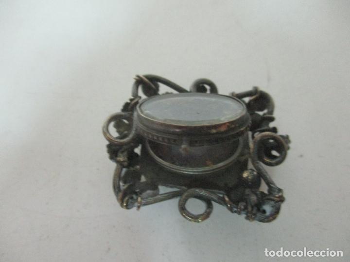 Antigüedades: Preciosa Joya - Colgante, Relicario - Plata de Ley - Amatista - S. XVIII - Foto 14 - 167430180