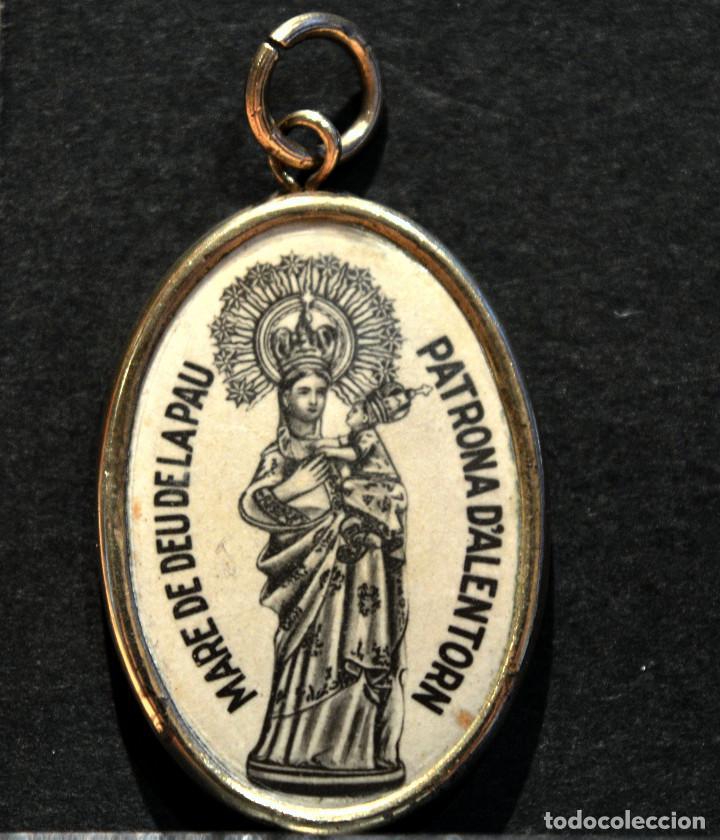 ANTIGUA MEDALLA LERIDA MARE DE DEU DE LA PAU ALERTORN ARTESA DE SEGRE LLEIDA (Antigüedades - Religiosas - Medallas Antiguas)