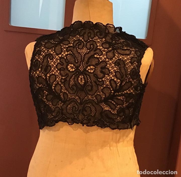 ANTIGUO CHALECO DE ENCAJE (Antigüedades - Moda y Complementos - Mujer)