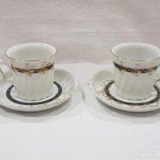 Antigüedades: PAR TAZAS CAFÉ COLECCIÓN PORCELANA ALEMANA. Lote 167470800