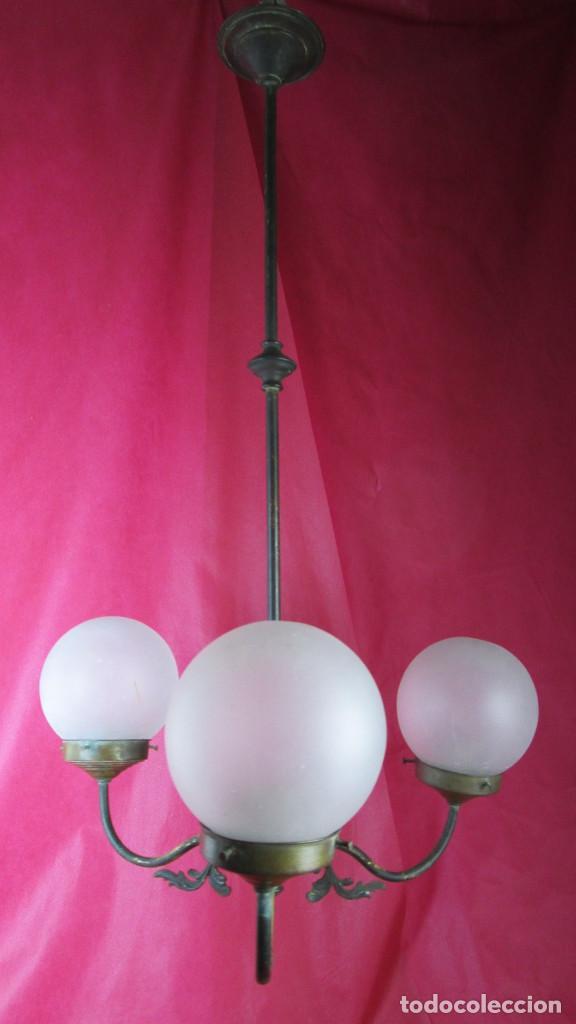 Antigüedades: LAMPARA MODERNISTA ART DECO 82X50 LISTA USO - Foto 2 - 167477444