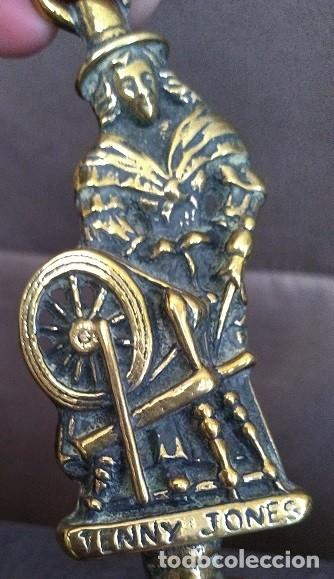 Antigüedades: BONITA CAMPANILLA LATÓN Y BRONCE JENNY JONES HIJA DEL INVENTOR DE LA HILADORA JENNY JAMES HARGREAVES - Foto 2 - 54853010